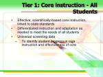 tier 1 core instruction all students