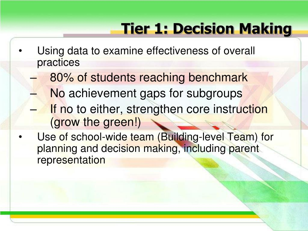 Tier 1: Decision Making