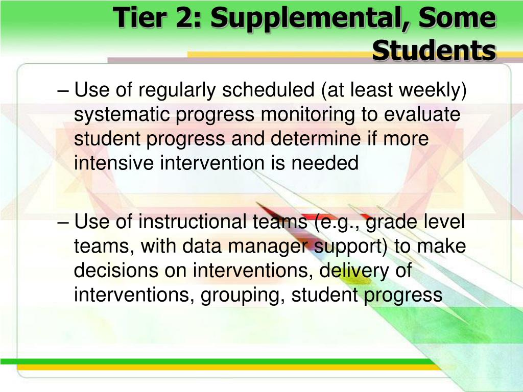Tier 2: Supplemental, Some Students