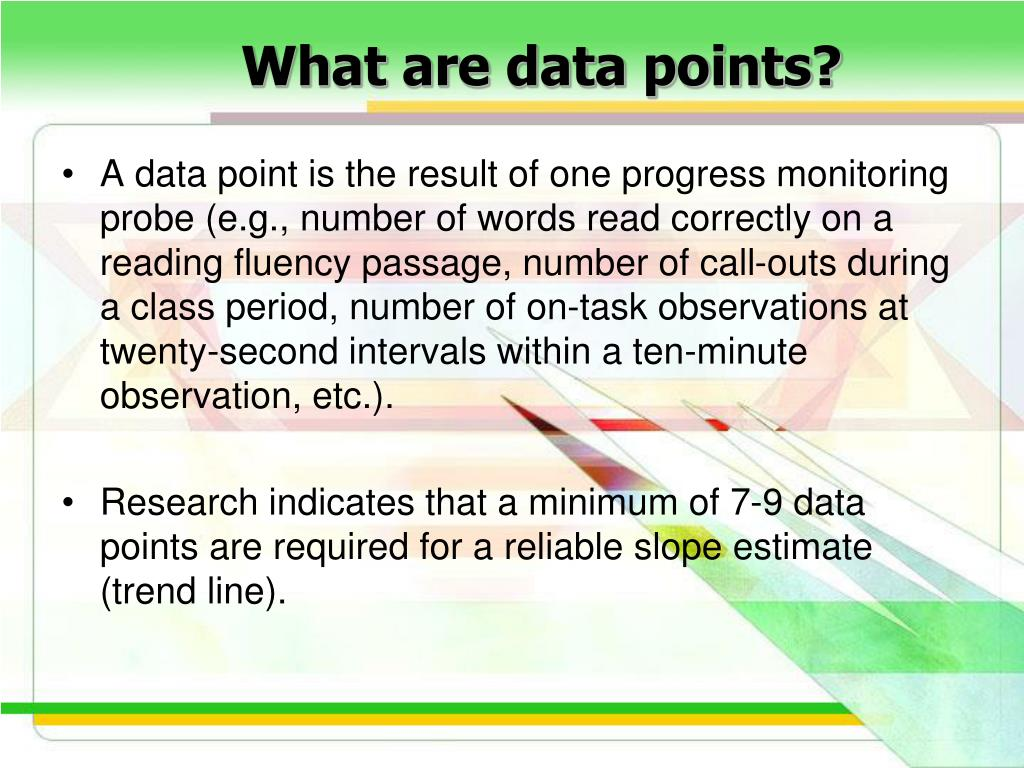What are data points?