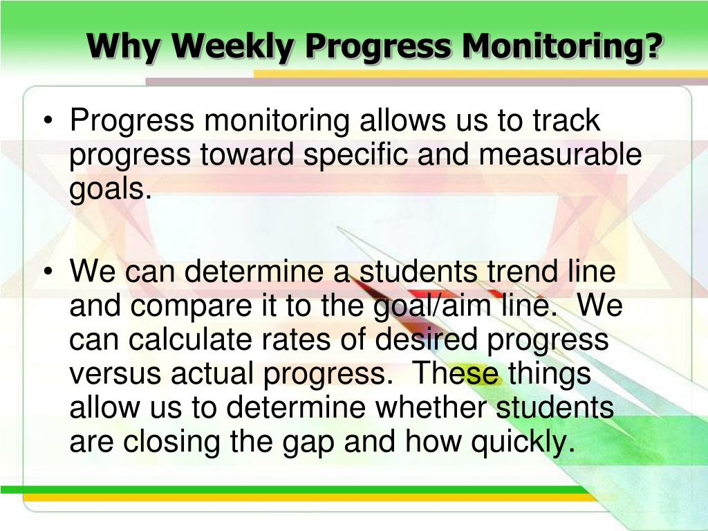 Why Weekly Progress Monitoring?