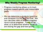 why weekly progress monitoring