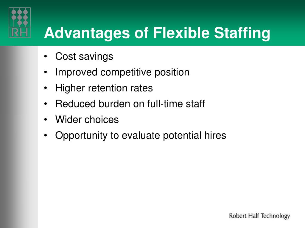 Advantages of Flexible Staffing