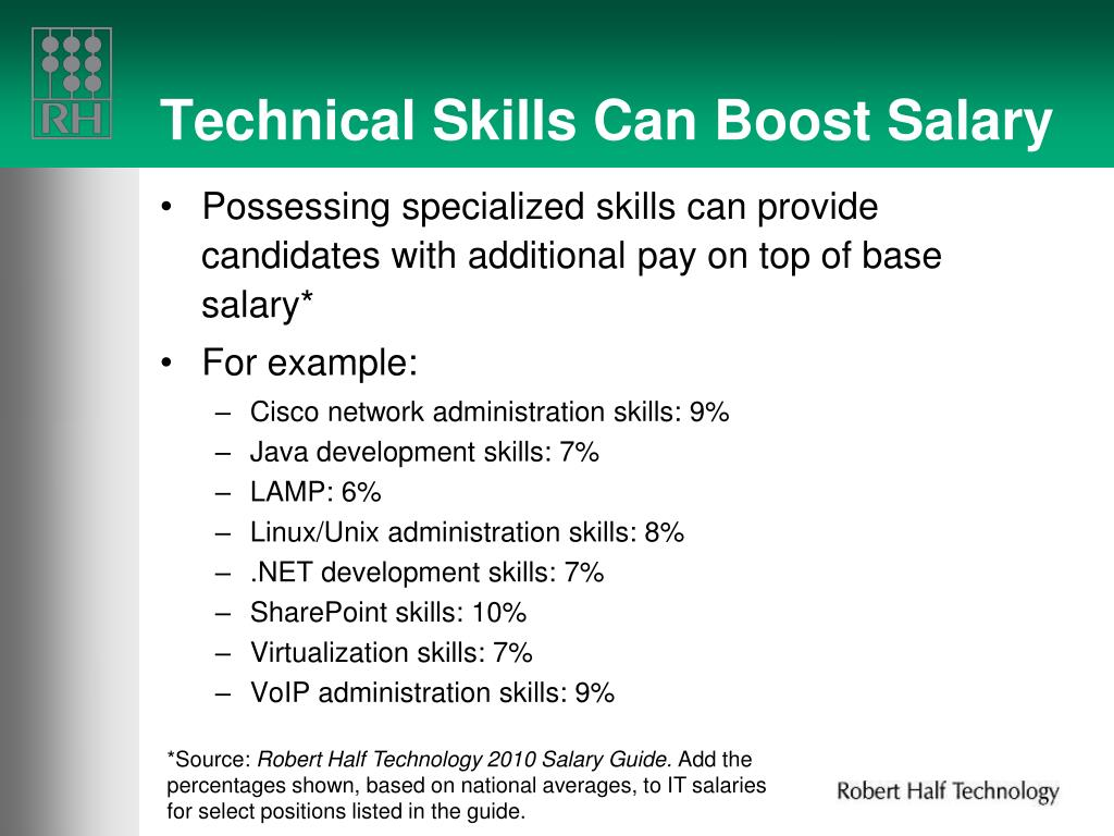 Technical Skills Can Boost Salary