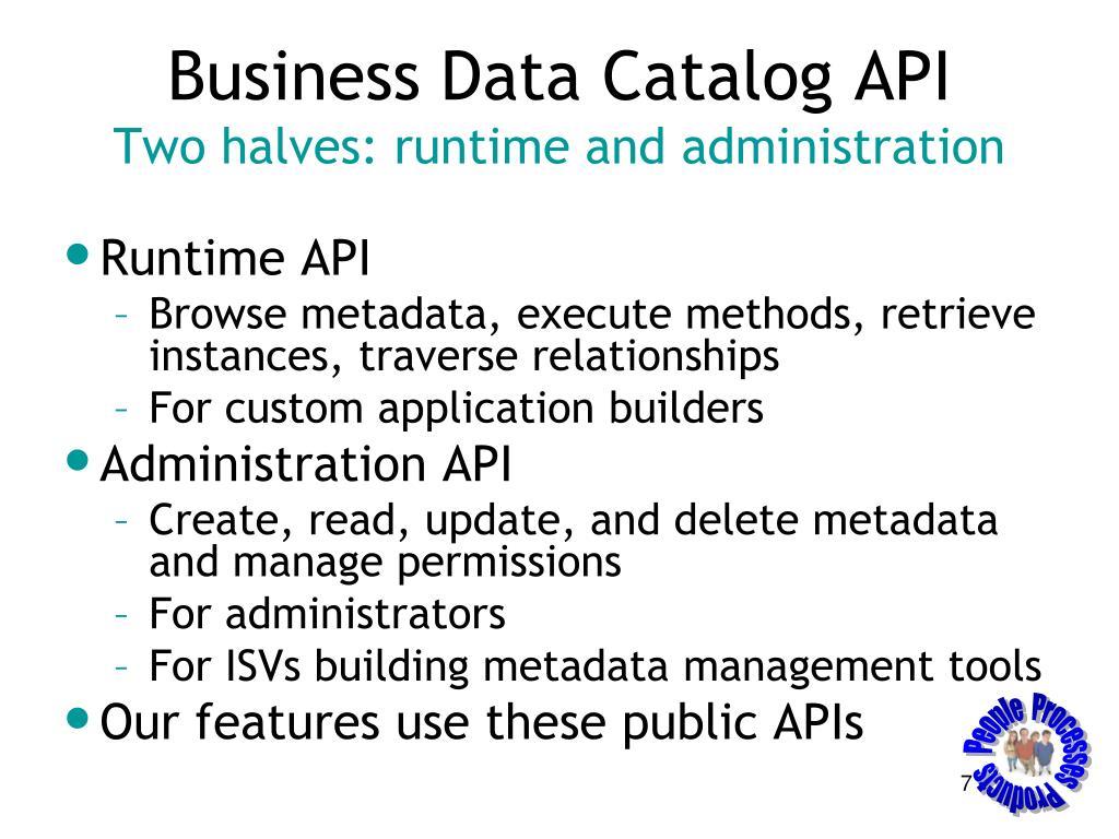 Business Data Catalog API