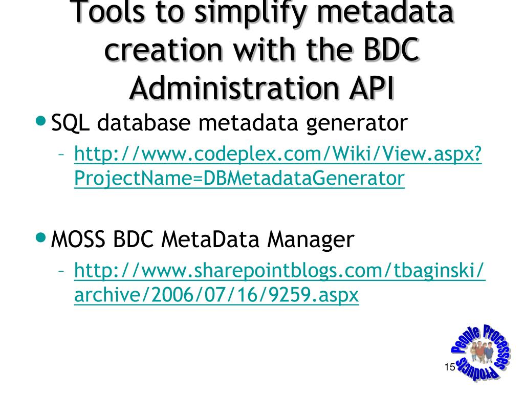 Tools to simplify metadata creation with the BDC Administration API