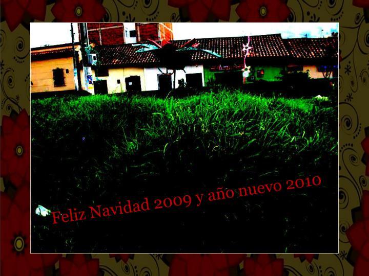 Feliz Navidad 2009 y año nuevo 2010