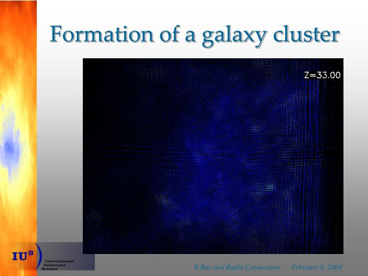 Formation of a galaxy cluster