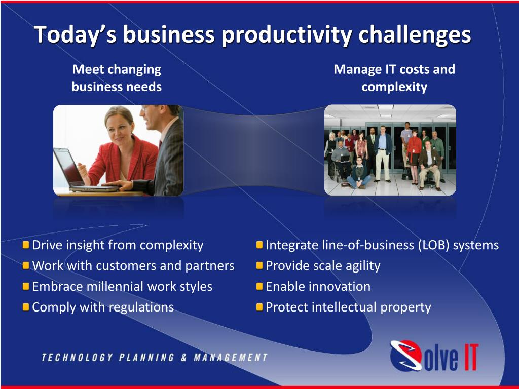 Today's business productivity challenges