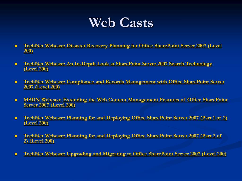 Web Casts