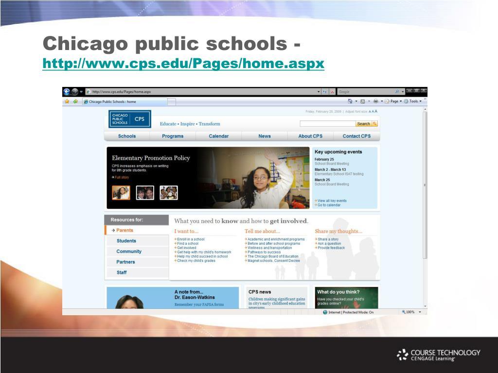 Chicago public schools -