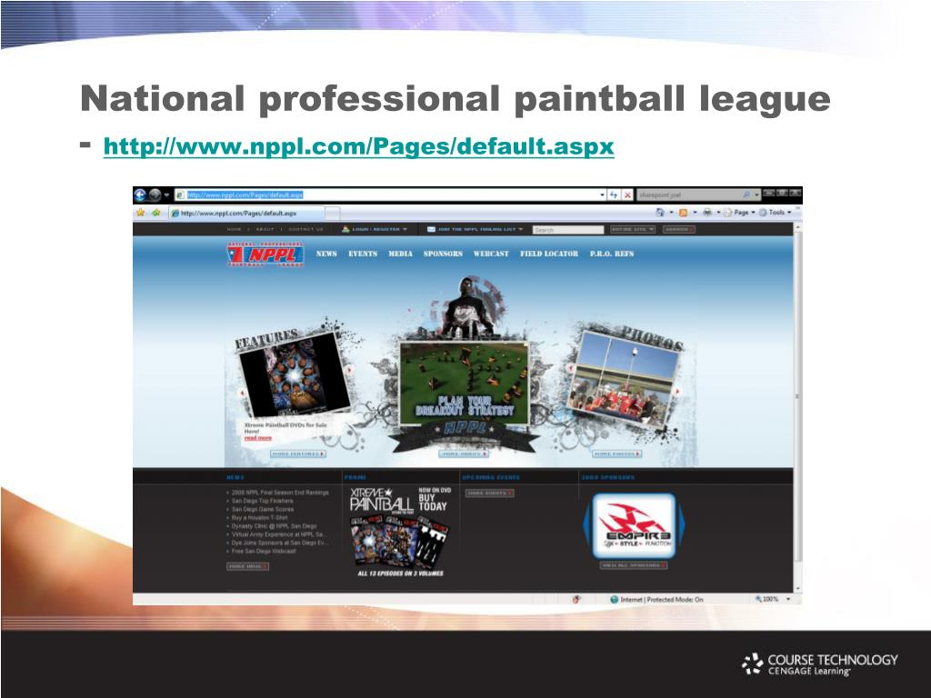 National professional paintball league -
