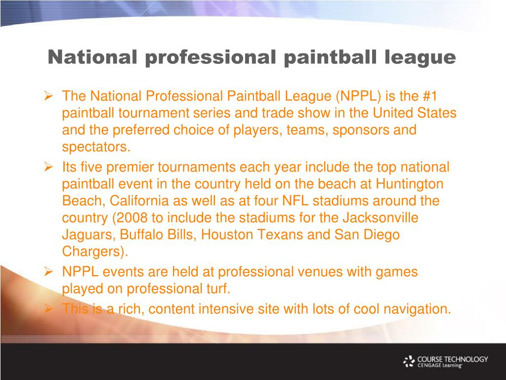 National professional paintball league