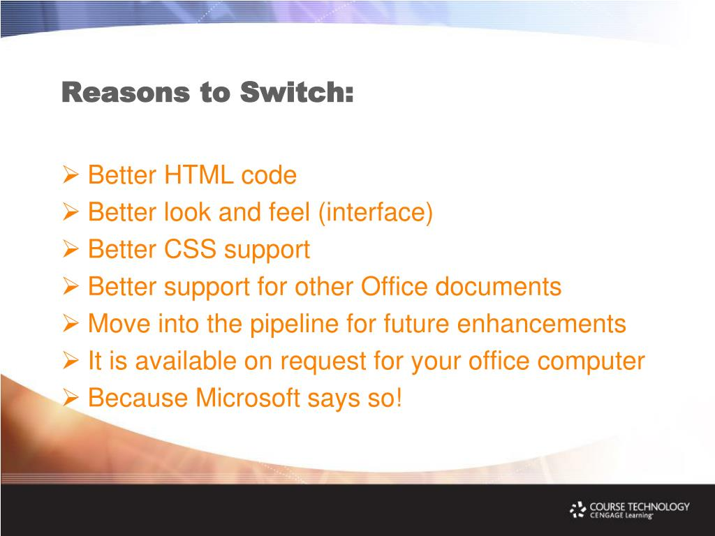 Reasons to Switch: