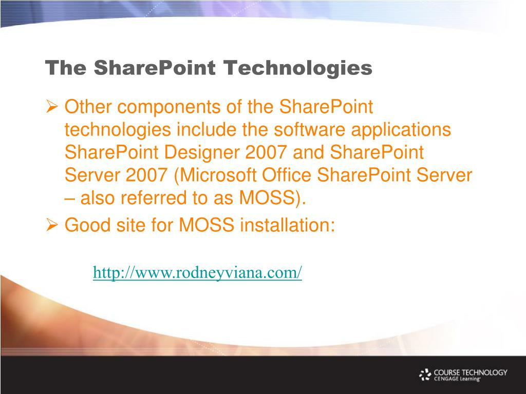 The SharePoint Technologies