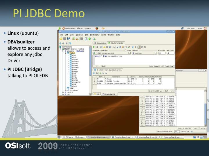 PI JDBC Demo