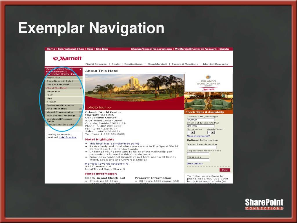 Exemplar Navigation