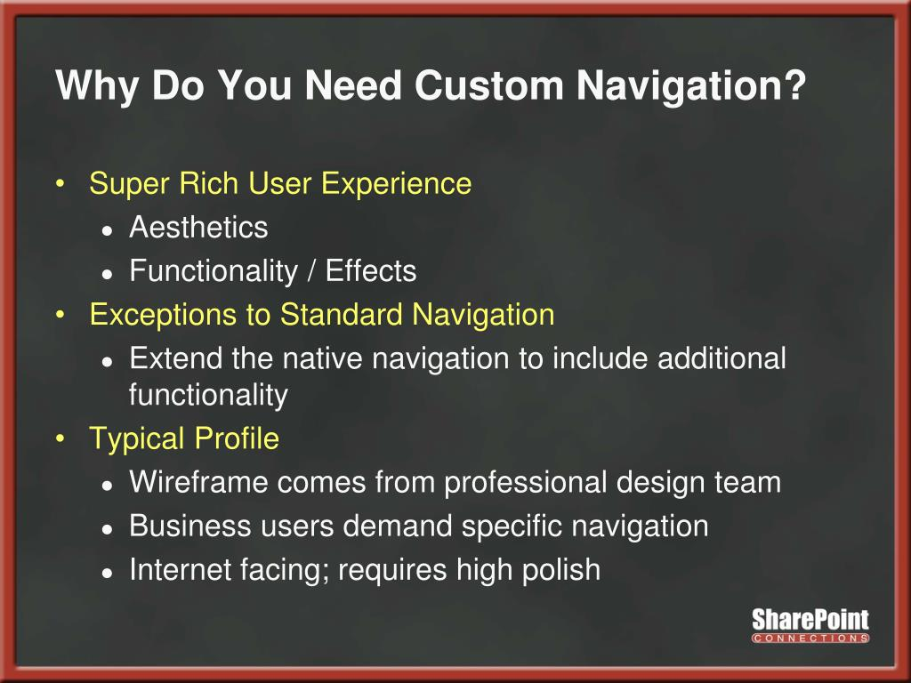 Why Do You Need Custom Navigation?