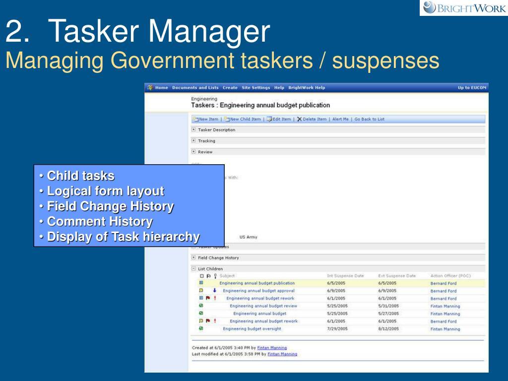 2.  Tasker Manager