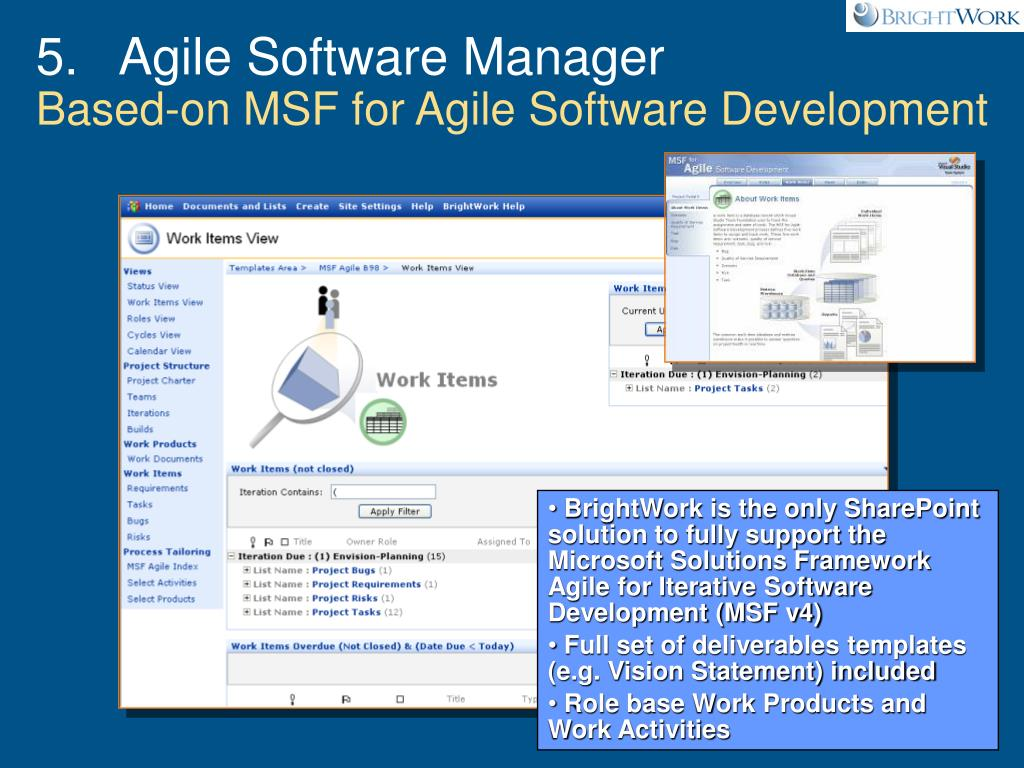 5.   Agile Software Manager