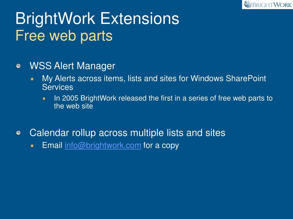 BrightWork Extensions