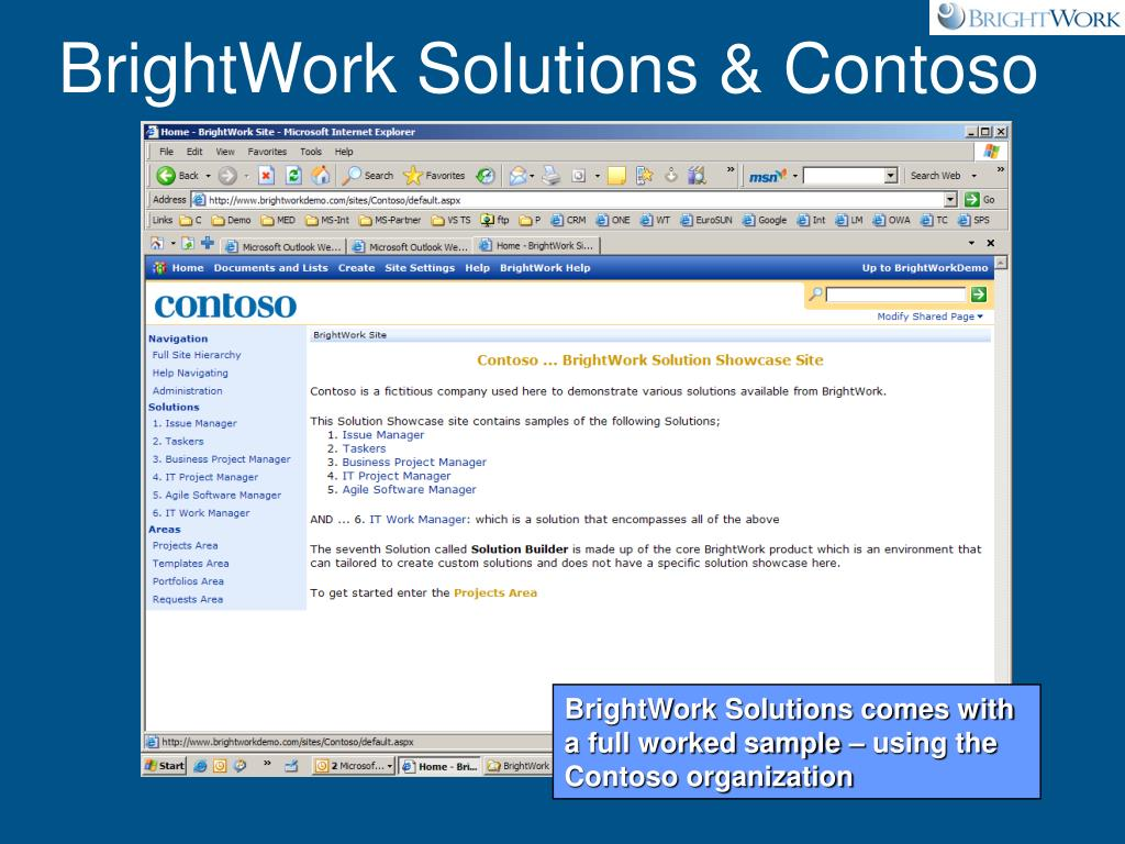 BrightWork Solutions & Contoso