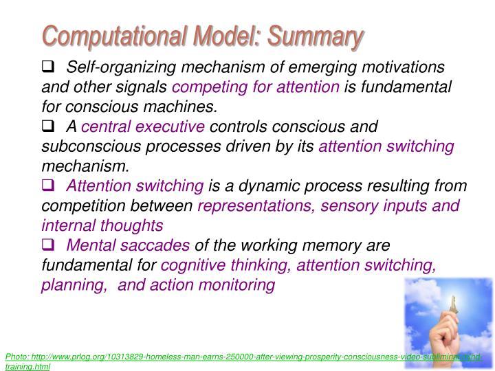 Computational Model: Summary