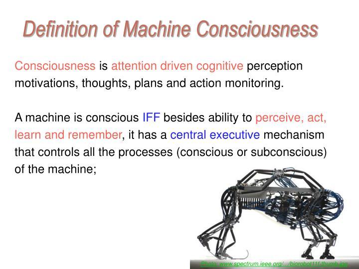Definition of Machine Consciousness