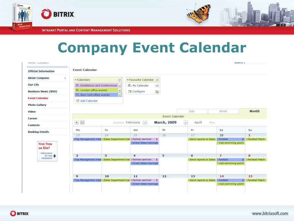 Company Event Calendar