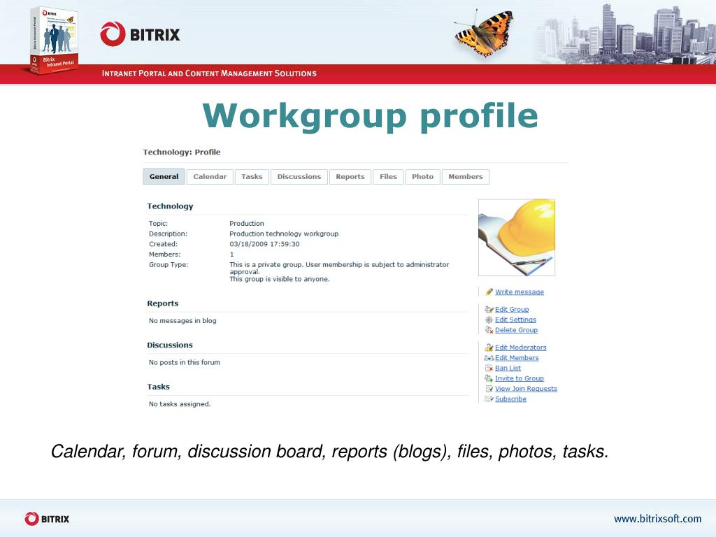 Workgroup profile