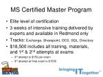ms certified master program