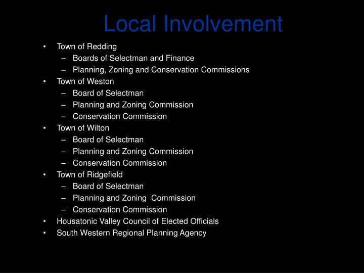 Local Involvement
