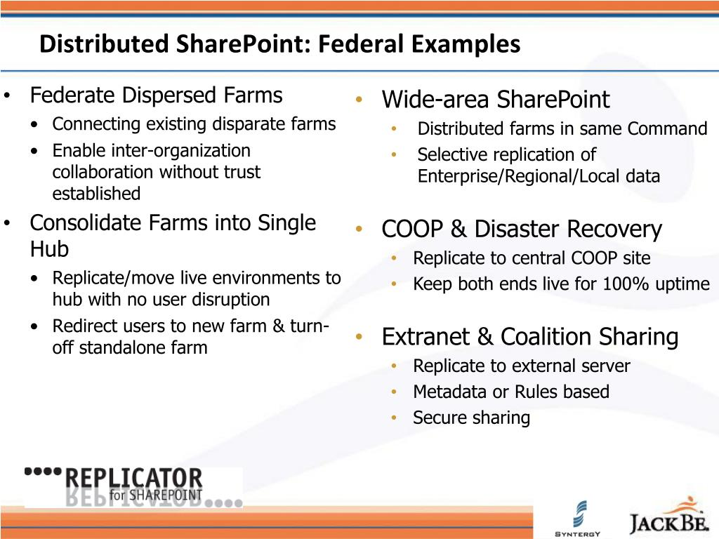 Distributed SharePoint: Federal Examples