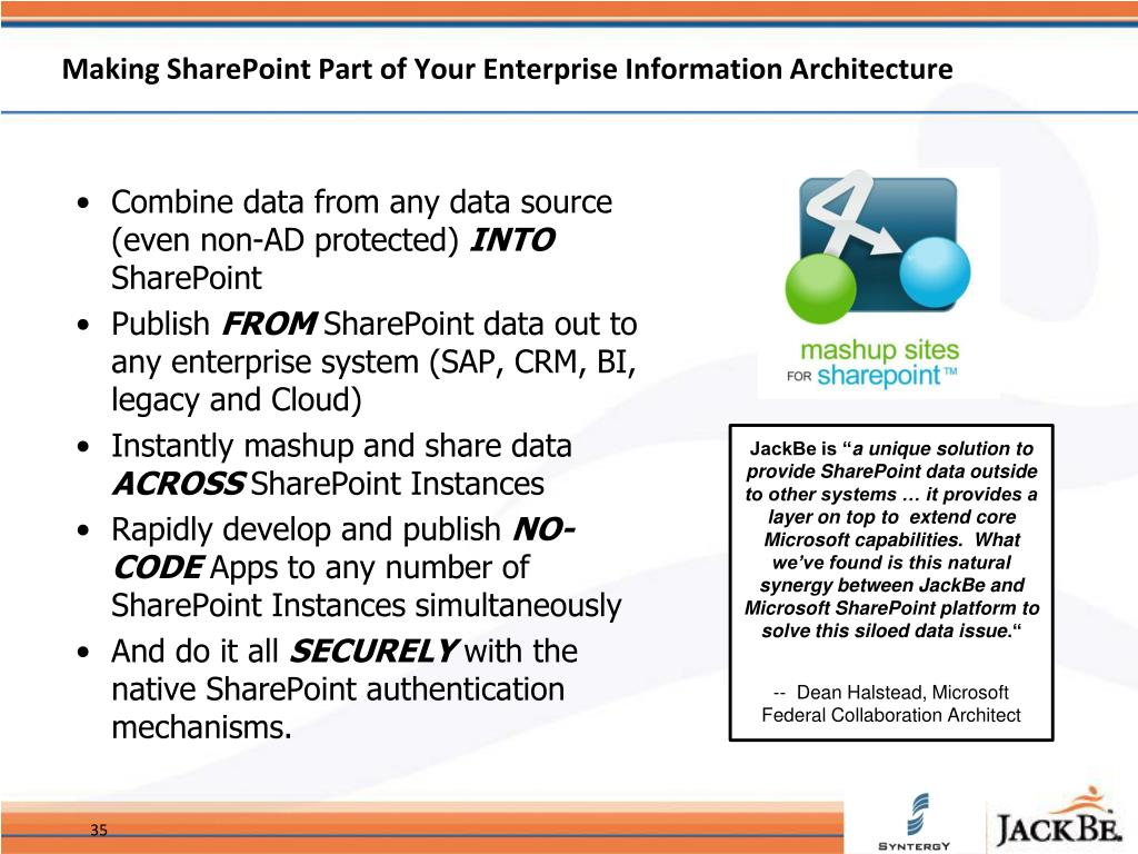 Making SharePoint Part of Your Enterprise Information Architecture