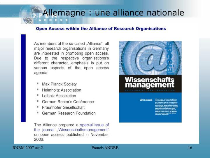Allemagne : une alliance nationale
