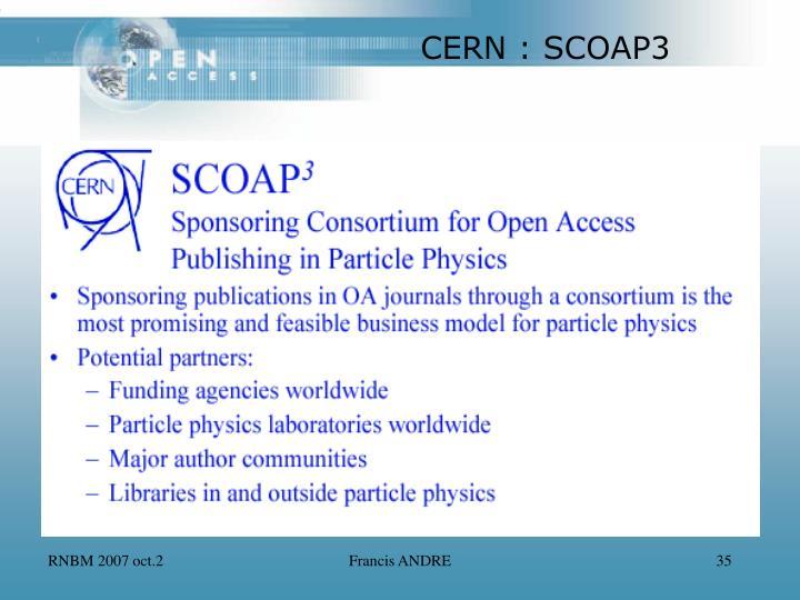 CERN : SCOAP3
