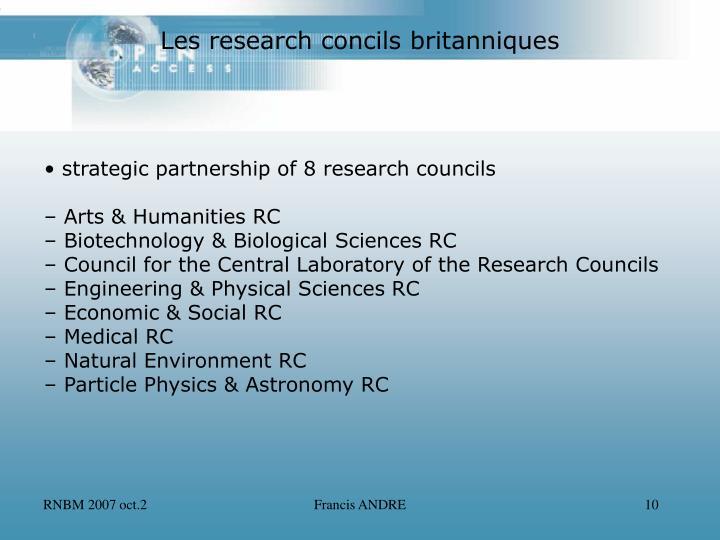 Les research concils britanniques