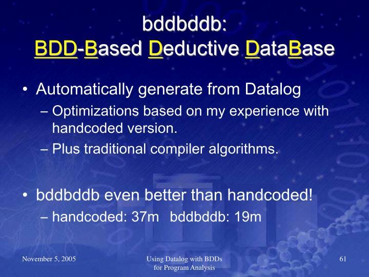 bddbddb: