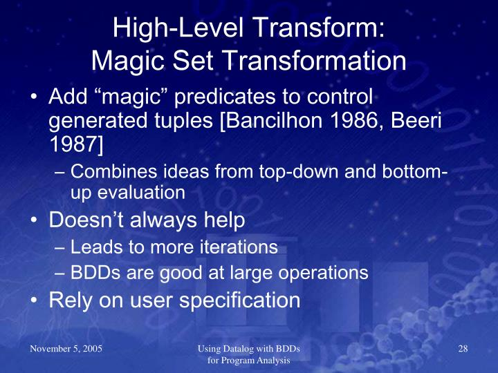 High-Level Transform: