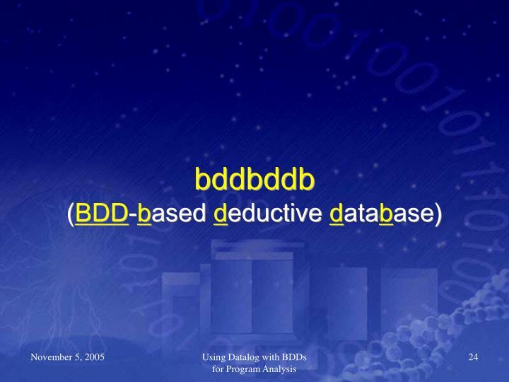 bddbddb