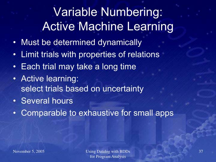 Variable Numbering: