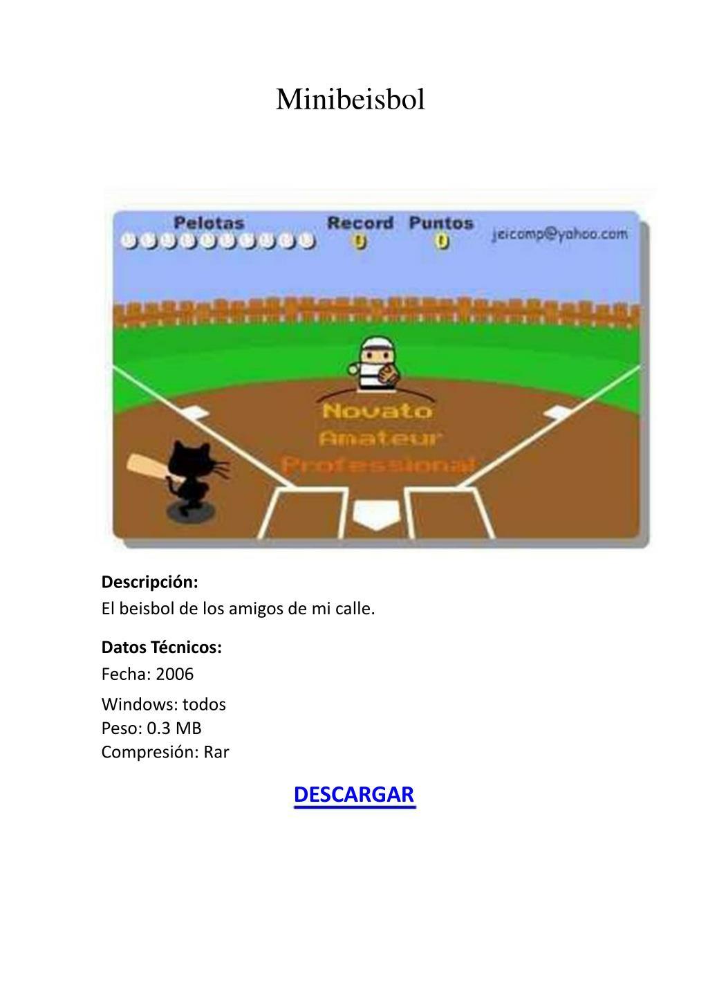 Minibeisbol