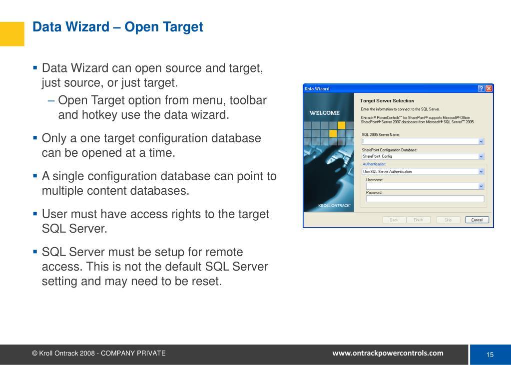 Data Wizard – Open Target