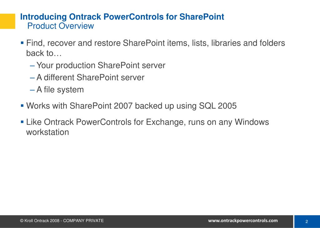 Introducing Ontrack PowerControls for SharePoint