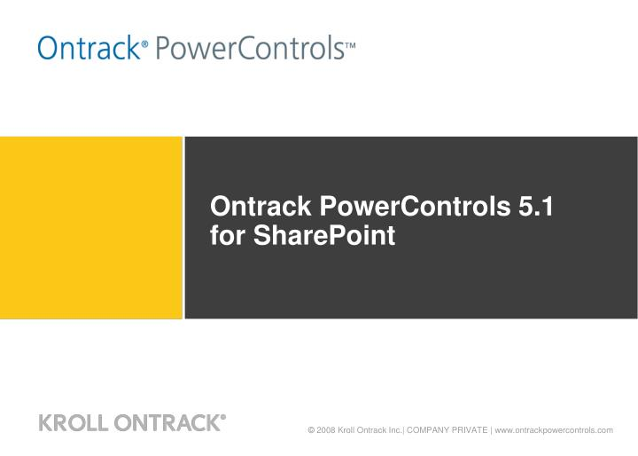 Ontrack powercontrols 5 1 for sharepoint