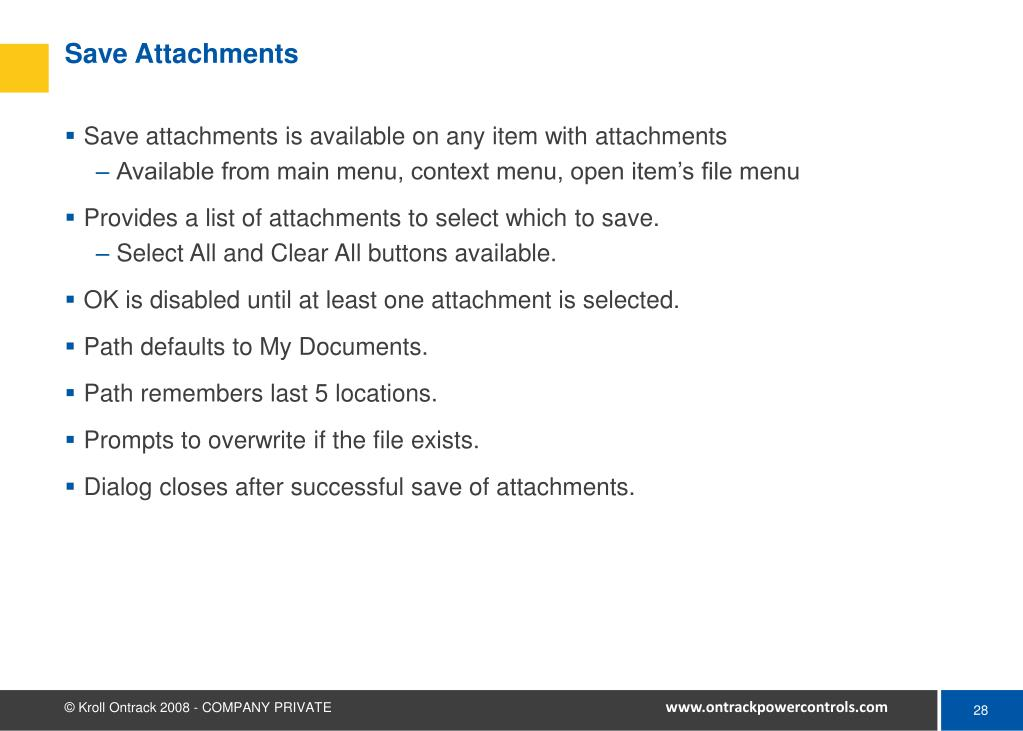 Save Attachments