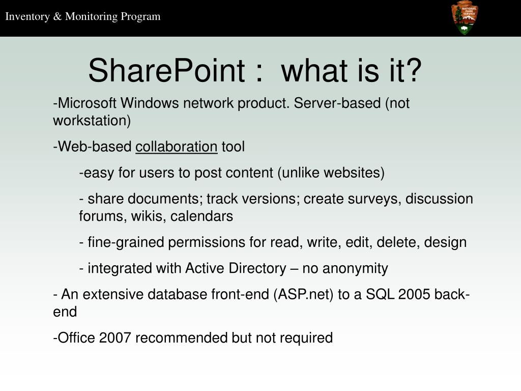 SharePoint :  what is it?