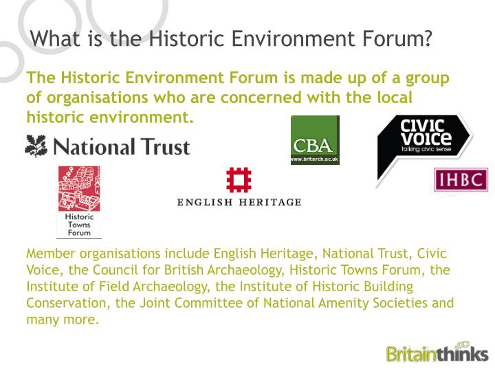 What is the historic environment forum