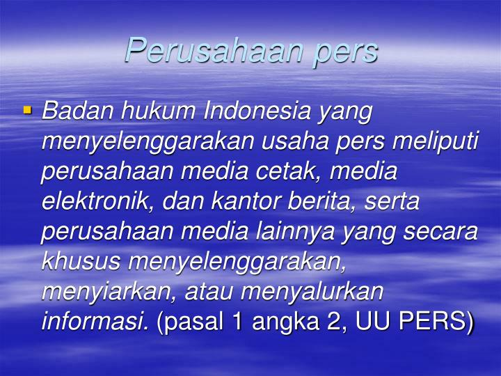 Perusahaan pers