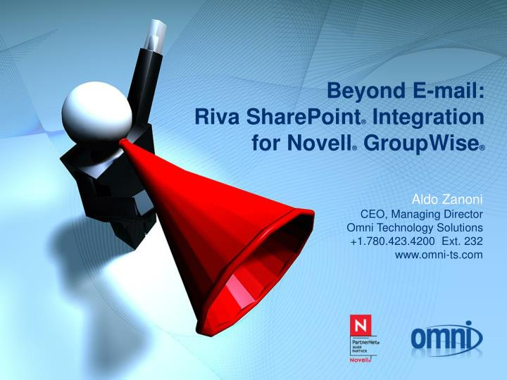 Beyond e mail riva sharepoint integration for novell groupwise